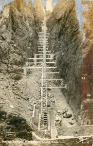 Royal Gorge Colorado~Incline Railway at the Royal Gorge~1940s Real Photo~RPPC