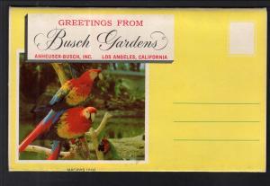 Greetings From Busch Gardens,Los Angeles,CA Souvenir Folder