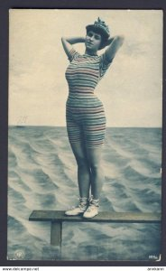 Swimsuit - PIN-UP GLAM FASHION woman one piece bathing suit RPPC Bromarin?