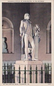 Houdons Statue Of Washington In The Rotunda Of The Capitol Building Richmond ...