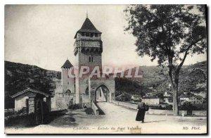 Old Postcard Cahors Entree du Pont Valentre