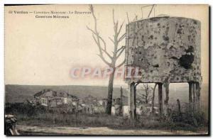 Old Postcard Chateau d & # 39eau Verdun Marceau Barracks Army tank