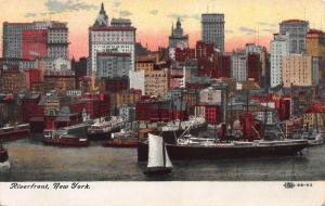Riverfront, New York, N.Y., Early Postcard, Unused