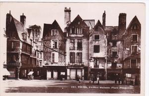RP; TOURS, Vielles maisons Place Plumeran, Indre et Loire, France, 1930-1950s