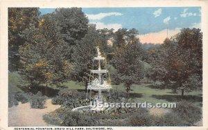 Centennial Fountain, Druid Hill Park in Baltimore, Maryland