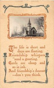 G1/ Aurelia Iowa RPPC Postcard c1912 M.E. Church Building