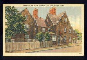 Salem, Massachusetts/MA Postcard, House Of The Seven Gables