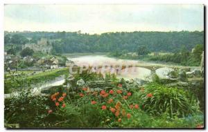 Modern Postcard The castle and Bridge Chepstow