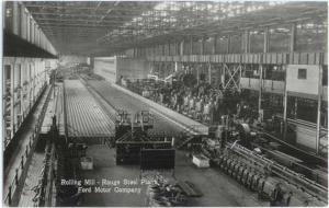 RPPC Rolling Mill Rouge Steel Plant Ford Motor Co MI Real Photo by Garraway Co.