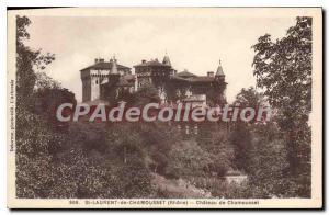 Postcard Old St Laurent De Chamousset The Castle