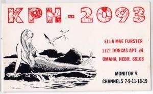 QSL - KPH2093, Ella Mae Furster, Omaha NB