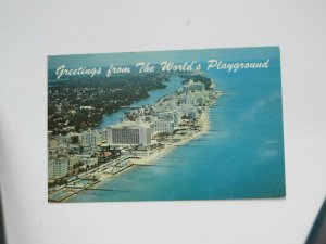 Greetings from the World's Playground Miami Beach FLORIDA Chrome Postcard
