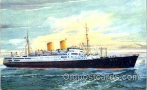 Norddeutscher Lloys Bremen MS Berlin Steamer Ship 1957 postal used 1957