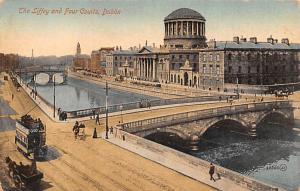 Dublin Ireland Liffey and Four Courts Dublin Liffey and Four Courts