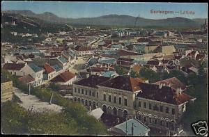 hungary, ESZTERGOM, Látkép, Panorama (1925)