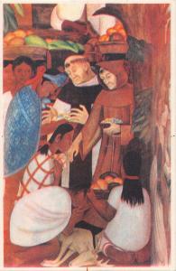 CURAS de LADO de los EXPLOTADORES EXPLOITERS~ARTIST DIEGO RIVERA POSTCARD 1934