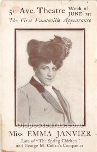 Miss Emma Janvier, Late of The Spring Chicken Theater Actor / Actress 1908