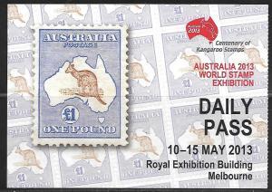 2013 Australia Kangaroo, Melbourne show, Delcampe, unused