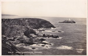 Godrevy Lightouse Gwithian Cornwall Friths Real Photo Old Postcard