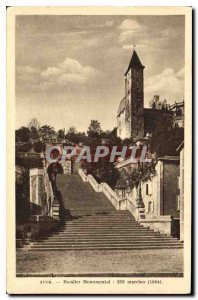 Postcard Old Escalier Monumental Auch 1864