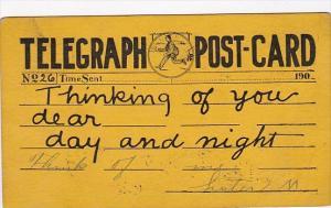 Tellegraph Postcard Sent 19 June 1907