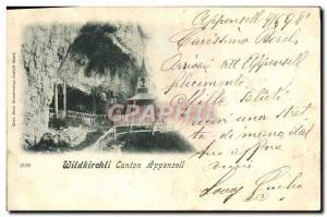 Old Postcard Wildkirchli Canton Appenzell Card 1898