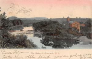 Greenwich New York Battenkill Birdseye View Antique Postcard K38755
