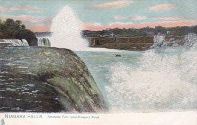 Tucks American Falls From Prospect Point Niagara Falls 1908