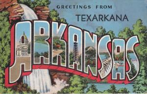 Large Letter Greetings , ARKANSAS (Texarkana overprint) ,  30-40s