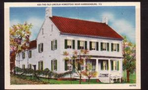 Virginia Postcard Lincoln Homestead Harrisonburg
