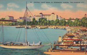 Florida St Petersburg Central Yacht Basin 1940