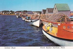 Lobster Boats, NORTH RUSTICO , P.E.I. , 50-70s