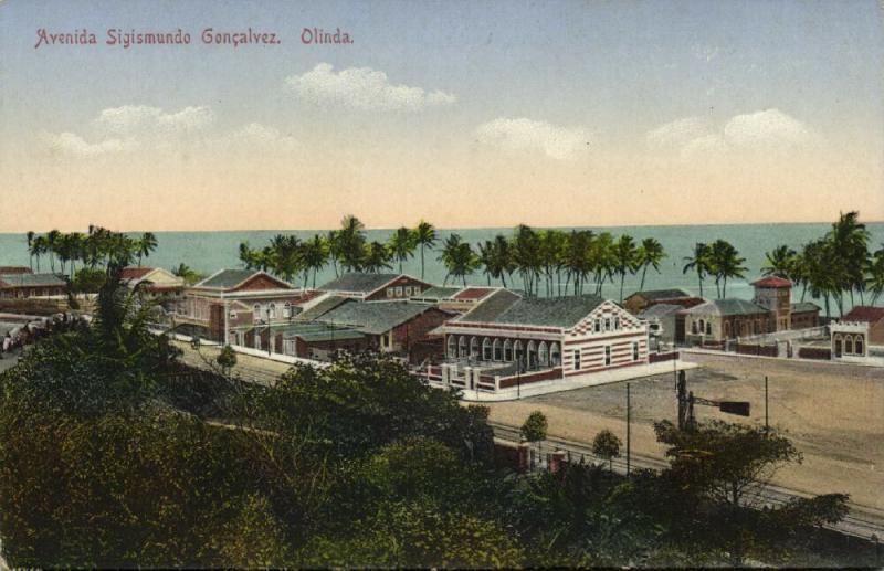 brazil, OLINDA, Pernambuco, Avenida Sigismundo Goncalvez (1910s)
