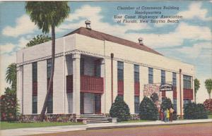 Florida New Smyrna Beach Chamber Of Commerce Building 1958 Curteich