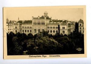 172379 LATVIA RIGA University Vintage photo postcard