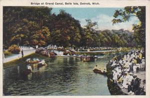 Michigan Detroit Bridge At Grand Canal Isle