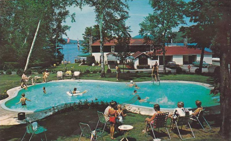 Swimming Pool , Lac Ouimet Resort , St. Jovite , Quebec , Canada , PU-1970s