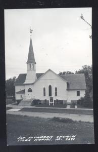 RPPC SIOUX RAPIDS IOWA FIRST LUTHERAN CHURCH VINTAGE REAL PHOTO POSTCARD