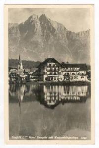 RP  Seefeld i. T., Austria, PU-1954, Hotel Seespitz mit Wettersteingebirge