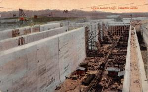 PANAMA CANAL-LOWER GATUN LOCK POSTCARD