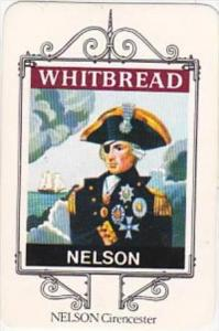 Whitbread Brewers Trade Card Maritime Inn Signs No 18 Nelson Cirencester