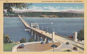 Washington Seattle Lake Washington Floating Bridge
