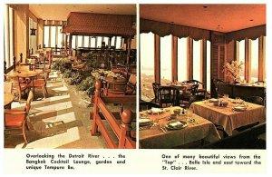 Top Of The Flame Detroit Michigan Restaurant Vintage Postkarte