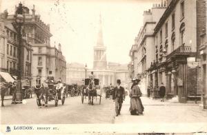 #London. Regent St. Cart Horses Tuck View Ser. PC # 2001
