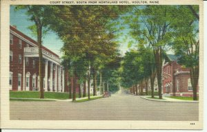 Houlton, Maine, Court Street, South From Northland Hotel