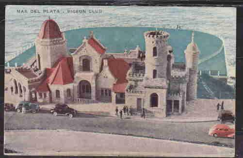 ARGENTINA OLD MAR DEL PLATA POSTAL CARD UNUSED PIGEON CLUB