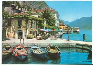 Italy, Limone, Lago di Garda, Il Porto, 1984 used Postcard