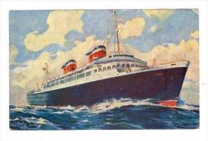 Ocean Liner   United States Lines, S.S. AMERICA , PU-1951used on ship