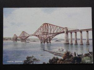 Scotland THE FORTH CANTILEVER RAILWAY BRIDGE & FERRY c1934 Postcard by Valentine