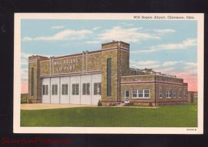 CLAREMORE OKLAHOMA WILL ROGERS AIRPORT VINTAGE POSTCARD AVIATION OKLA.